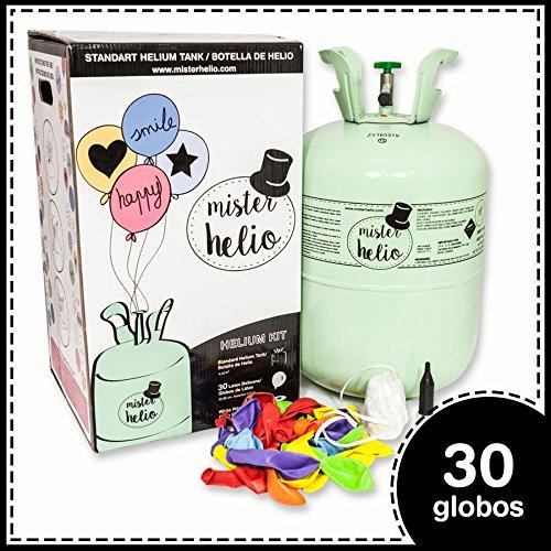 Bombona de Helio Desechable Mister Helio + 30 Globos de