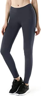 TSLA Women's Thermal Wintergear Compression Baselayer Yoga Pants Leggings Tights, Wintergear Fleece(xup21) - Dark Grey, X-...