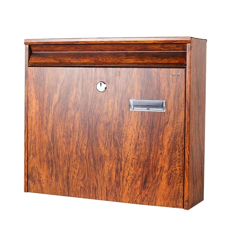 JINDEN ビューイングウィンドウポストボックス付きウォールマウントメールボックスクリエイティブレターボックス