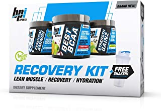 BPI Sports Recovery Kit an All in one Solution (Best BCAA, Strength Gainz, Clinical Essential Aminos, Free Shaker Included)