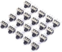 Cylewet 20Pcs 5mm High Knob Vertical Slide Switch 3 Pin 2 Position 1P2T SPDT Panel (Pack of 20) CYT1107