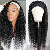 Kinky Curly Headband Wig Malaysian Virgin Hair Wet And Wavy Headband Wigs Human Hair 9A Grade High Density Full Hair No Lace Wig For Women Silky And Soft Natural Color 22 Inch