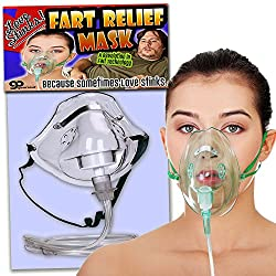 Gears Out Love Stinks Fart Relief Mask - Funny Bridal Shower Gifts
