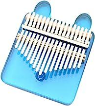 MAODOXIANG Thumb Pianos Blue Crystal 17 key Kalimba Acrylic Thumb Piano 17 Keys Mbira Transparent Keyboard Instrument (Col...