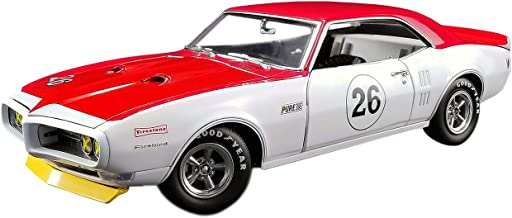 1968 Pontiac Trans Am Firebird Tribute #26 Jerry Titus White and Red 1/18 Diecast Car Model by Acme A1805210