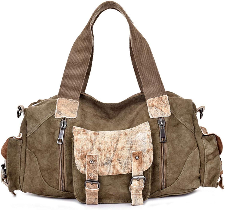 HHXWU Bag Bag Bag Men's Bag Herrenhandtasche Large Capacity Aktentasche Canvas Bag, Khaki B07KXH35Y7 254580