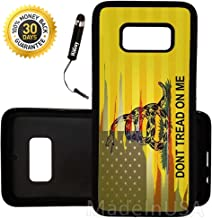 Custom Galaxy S8 Plus Case (Dont Tread On Me Best Flag) Edge-to-Edge Rubber Black Cover Ultra Slim | Lightweight | Includes Stylus Pen by Innosub