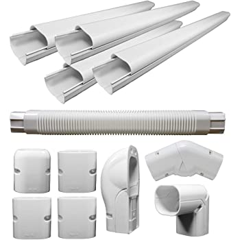 PVC Decorative Line Cover Kit for Ductless Mini Split Air Conditioners