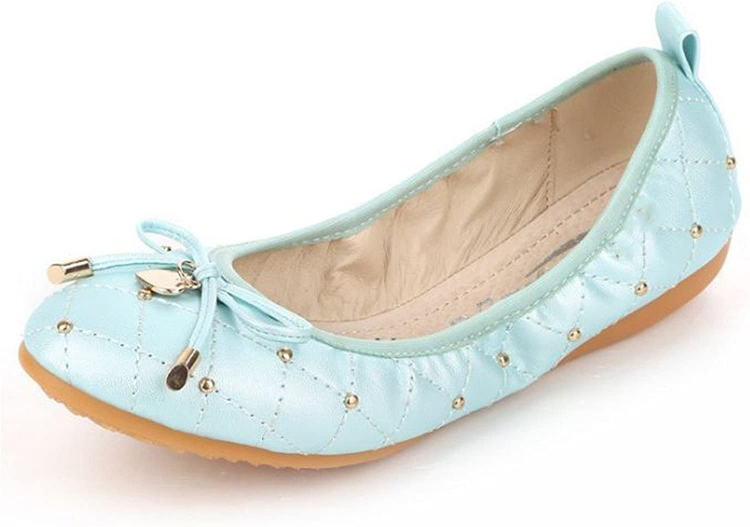 Edv0d2v266 Women Fashion Sweet Candy color shoes Boat shoes Flat Casual Shallow Mouth Flat Single shoes