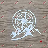6'' White 4X4 Off Road Decal Sticker Mountain Compass Car Vinyl fit for Jeep Ford Chevy etc