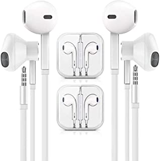 Headphones/Earphones/Earbuds,3.5mm aux Wired Headphones Noise Isolating Earphones Built-in Microphone & Volume Control Com...