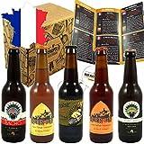 Pack Découverte Bières Artisanales Françaises - 5 bières artisanales françaises - 33 cl - Cadeau idéal pour soi ou à offrir ! Livraison Gratuite