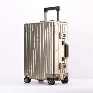 All-Aluminum Leisure Suitcase Men and Women Travel Suitcase Trolley case Boarding case Golden 20 inch