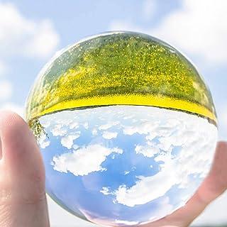水晶玉 水晶球 無色透明 人工 溶錬 宙玉撮影 開運祈願インテリア 風水グッズ 話題の水晶玉撮影 クリスタルボール 撮影K9クリスタル球ボール 30-80mm (透明, 30mm)