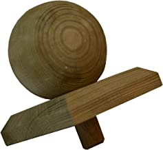 1 X Pfostenkappe Kugel Holz impr/ägniert 80X80mm f/ür 70X70mm Pfosten 8X8cm  f/ür 7X7cm Pfosten