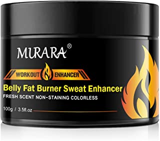 Fat Burning Cream for Belly, Hot Cream, Natural Sweat Workout Enhancer Gel, Slim Shaping Cream, Cellulite Treatment for Th...