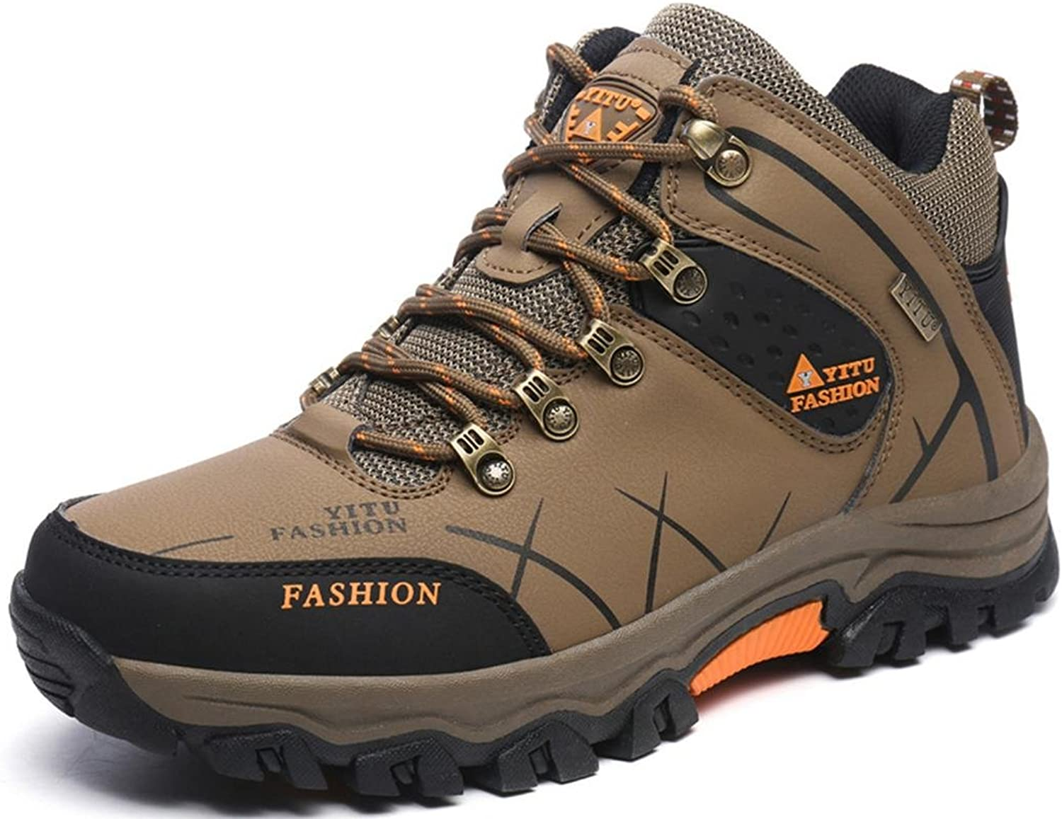 ONENICE Hiking shoes Men Women Leather Breathable Walking Outdoor Trail Climbing Sneaker for Camping Athletic Running Sport Travel shoes
