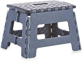 comprar comparacion Zeller 13733 Taburete Plegable, Plástico, Negro, 32x25x22 cm