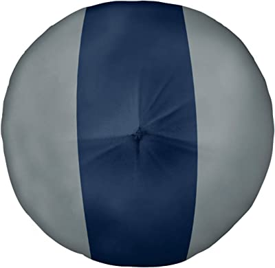 ArtVerse NFS Dallas Football Stripes Floor Pillow - Round Tufted, 30 x 30, Away Silver and Blue