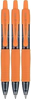 Pilot G2 Mini Premium Rolling Ball Gel Pens, Fine Point, 0.7 mm, Retractable, Refillable, Orange, 3 Count