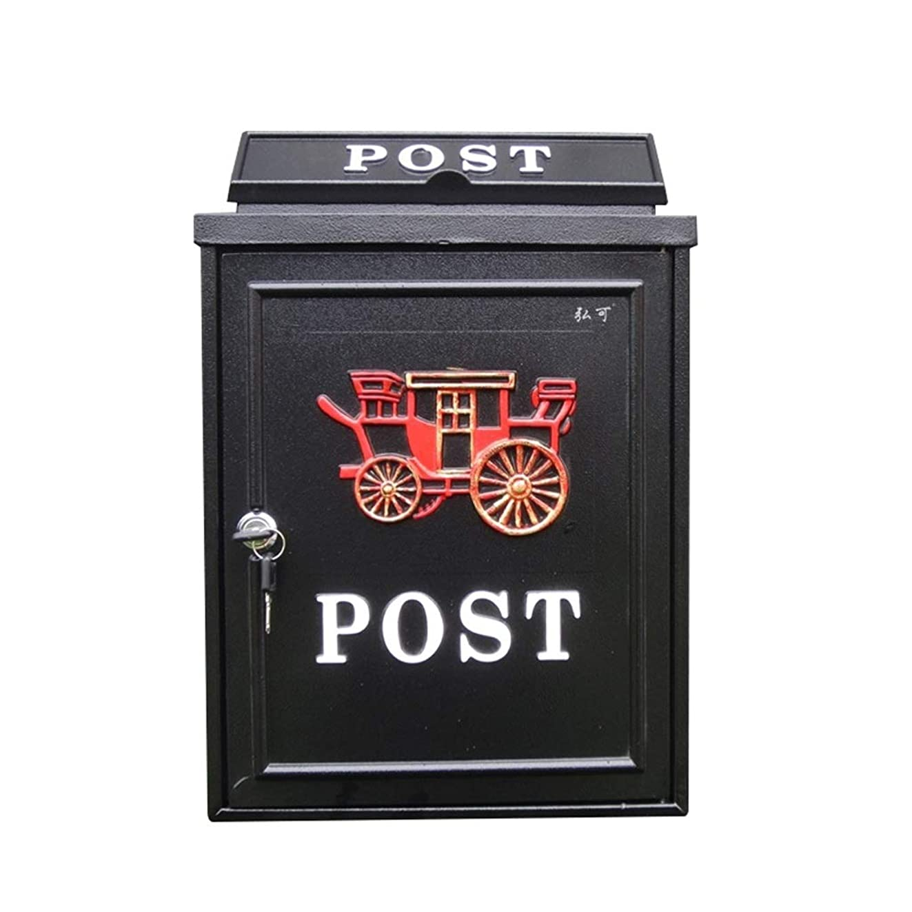名詞かなりの削る多機能メールボックス 壁にマウントされたメールボックスの庭の装飾のメールボックス郵便 (色 : A)