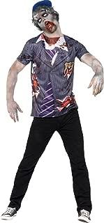 Mens Zombie Boarding School Boy Uniform College Uniform Halloween Fancy Dress Costume Outfit