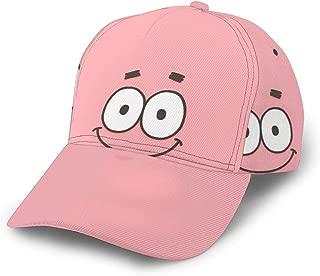 Unisex Vintage Baseball-Cap Twill Adjustable Relaxed Cap - Spongebob Patrick Star Black