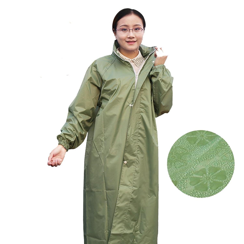 PENGFEI レインコートポンチョ 防水 ロングトレンチコート 帽子 歩くことによる旅行 通気性のある 6色 3サイズ (色 : Green, サイズ さいず : XXL)