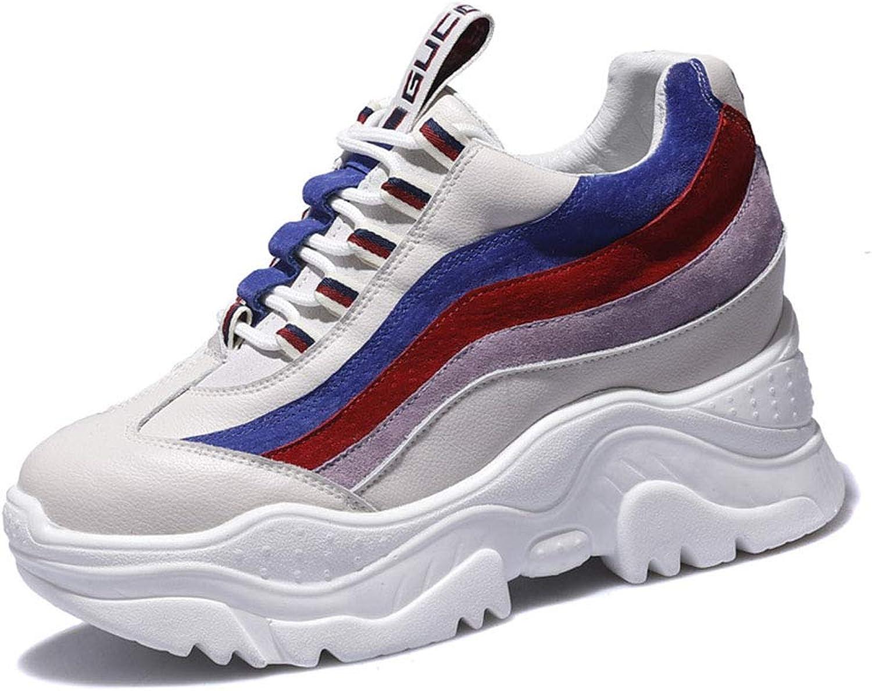 Kvinnliga sportskor Plattformade skor Lace upp Low -Top -Top -Top skor Street Dance skor Casual springaning skor Resets vit svart Beige, B,39  motverka äkta