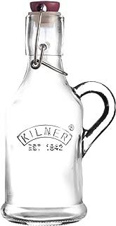 Kilner Clip Top Handled Glass Bottle, 6.8 x 6.8 x 17.5 cm
