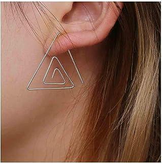 Olbye Layering Triangle Threader Earrings Silver Geometry Earrings Dainty Geometric Modern Earrings Body Jewelry for Women...