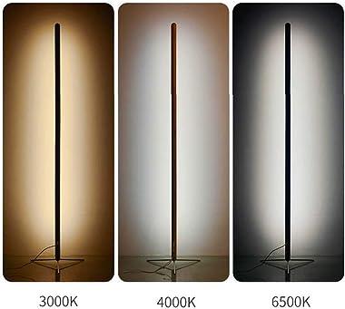 HMAKGG Moderne LED Lampadaire Dimmable Lampe Sur Pied Bois avec Télécommande, 24W pour Salon, Chambre à Coucher, Bureau, Hôte