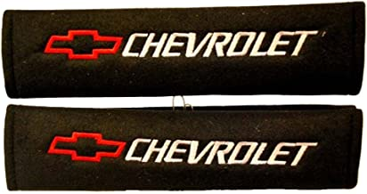 Chevrolet Seat Belt Shoulder Pad One Pair Red Logo