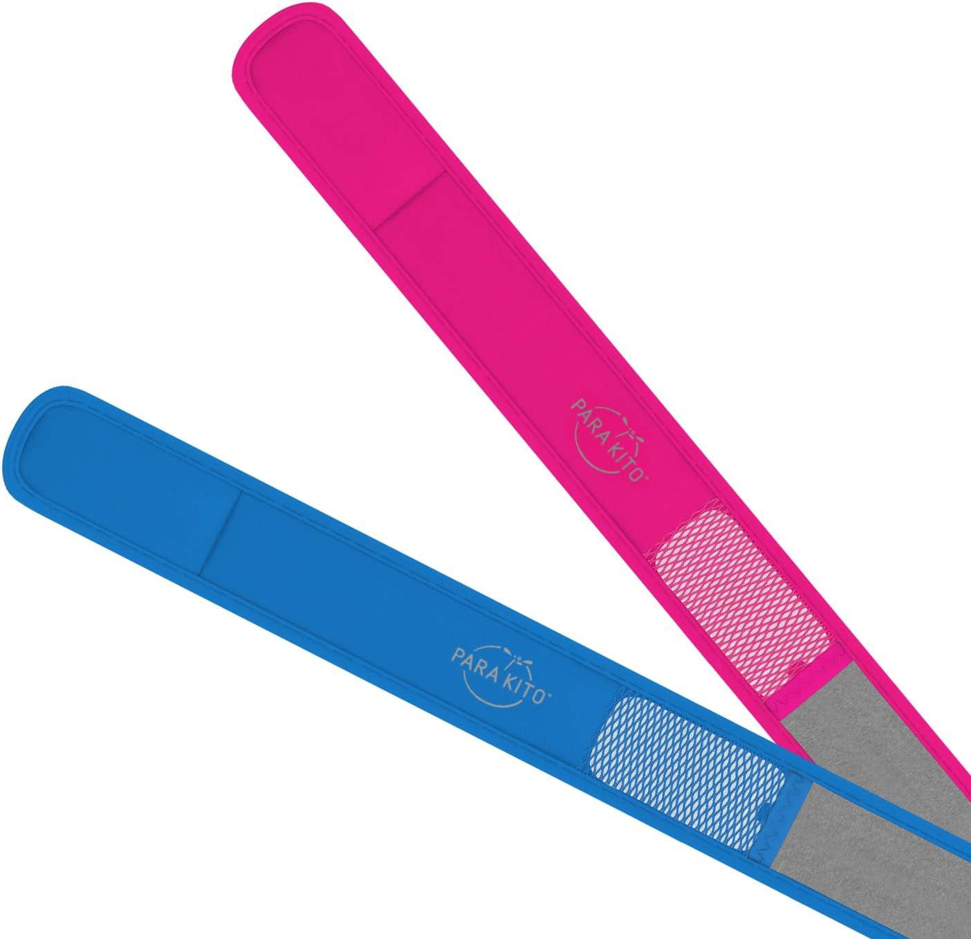 2 Wristbands ParaKito Mosquito Repellent Bonus Pack Yellow + Deep Blue 2 Refills
