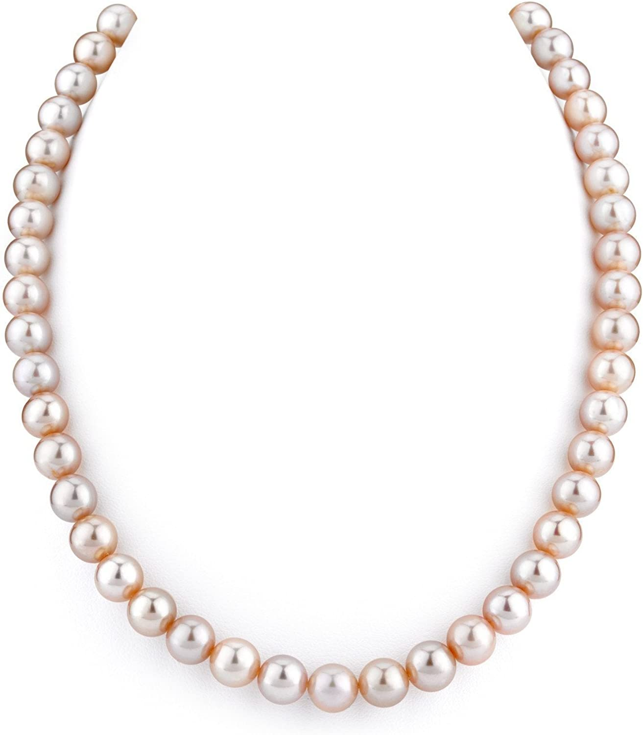 THE PEARL SOURCE 14K Gold Rare 8-9mm AAA Cult Pink Raleigh Mall Freshwater Quality