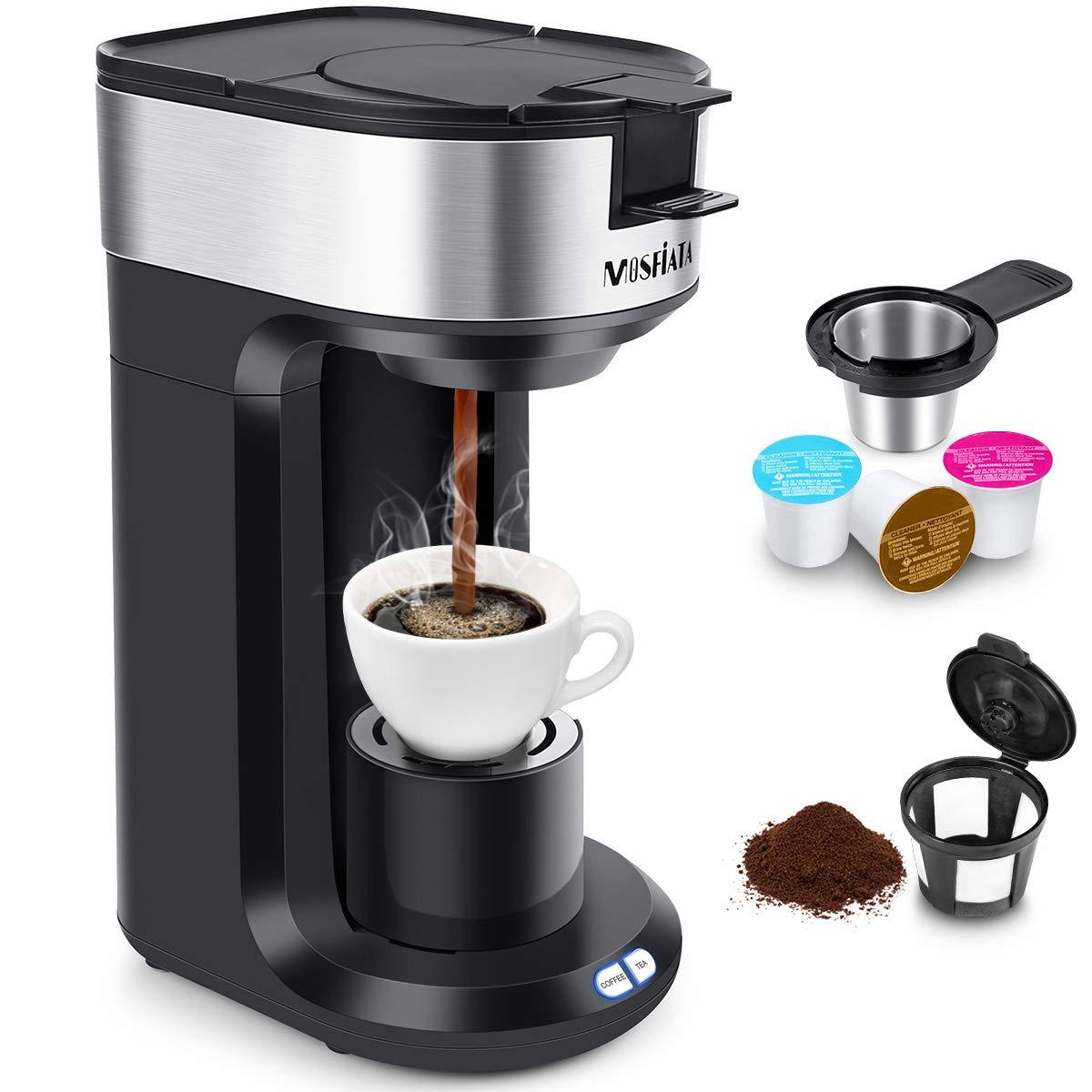 Cafetera MOSFiATA Cafetera con filtro 3 en 1 para café en polvo, cápsula de café, parada de goteo de té Limpieza automática Negro [Clase energética A +++]: Amazon.es: Hogar