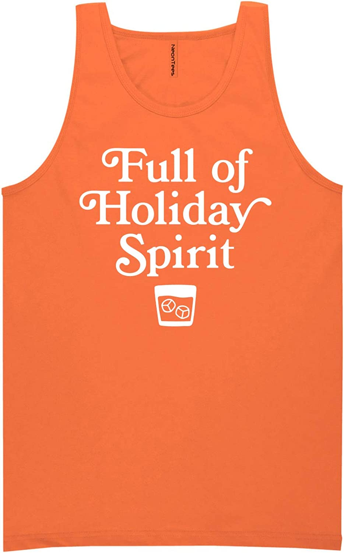 zerogravitee Full of Holiday Spirit Neon Orange Tank Top - XX-Large