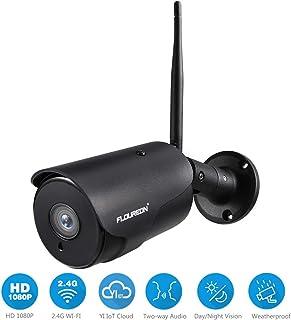 FLOUREON YI IOT Cámara de Vigilancia Exterior IP WiFi Cámara de Seguridad 1080P Audio Bidireccional Detección de Movimiento Almacenamiento en la Nube Impermeable IP66 Compatible con Alexa