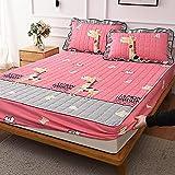 Sábanas ajustablesperfecto para el colchón, sensación suave, ,Sábanas Ajustables Acolchadas Y Cepilladas, Almohadilla De...