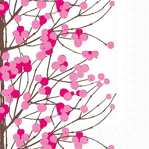 Idéal à Domicile Gamme 20 graines Boston International Marimekko 3 Plis déjeuner Serviettes en Papier, 15,2 cm, Rose Lumimarja