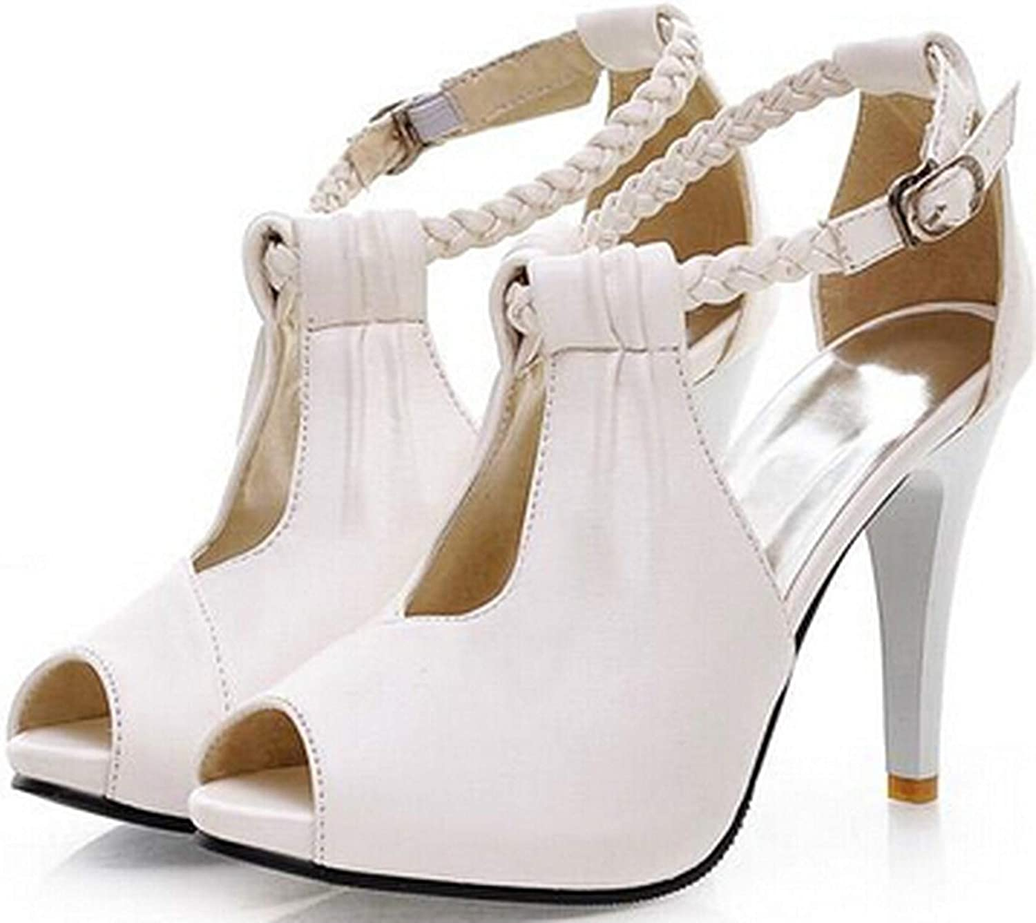 Sexy Women Sandals High Heeled Summer Single shoes Design High Heels shoes 34-43,White,11