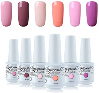 Vishine 6Pcs Soak Off LED UV Gel Nail Polish Varnish Nail Art Starter Kit Beauty Manicure Collection Set C009