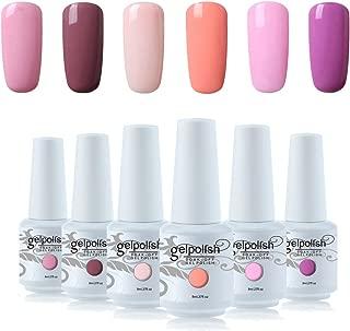 Vishine 6Pcs Soak Off LED UV Gel Nail Polish Varnish Nail Art Starter Kit Beauty Manicure Collection Set C009