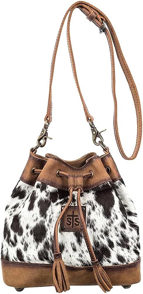 STS Ranchwear Women's Western Leather Classic Cowhide Bucket Bag