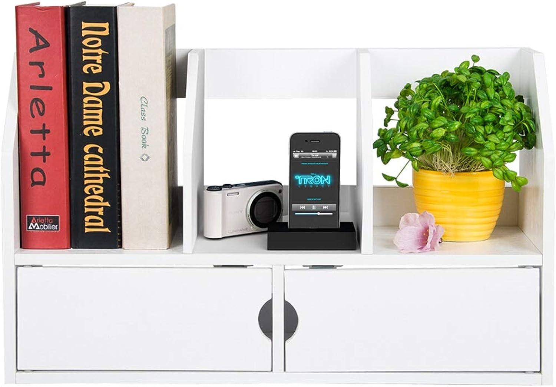 Desktop Bookshelf Table Shelf, Student Modern Minimalist Wooden Bookshelf, Desk Storage Rack Small Bookshelf