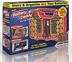 Ontel Battery Daddy 180 Battery Organizer and Storage Case with Tester, 1 Count