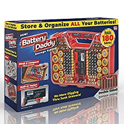 Ontel Battery Daddy 80 Battery Organizer and Storage Case with Tester
