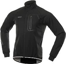 BERGRISAR Men's Winter Softshell Cycling Jacket Windbreaker Water Resistant Thermal Fleece Bike Outerwear BG011