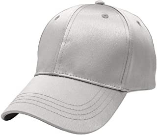 Hats Womens Style for Golf Running Fishing Unisex Baseball Cap Outdoor Travel Cap Fashion (Color : Silver, Size : Adjustable)