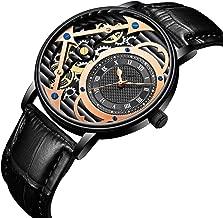 S-Watch Men Watches Watch Mens Digital Automatic Men's Quartz Leather Belt Waterproof Hollow Mechanical